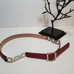 TALBOTS Leather Red Chain Belts
